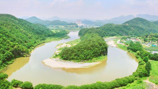 仙岩村韓半島地形