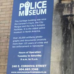 Vancouver Police Museum & Archives User Photo