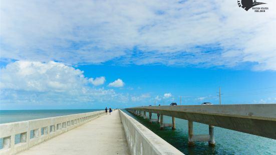 从 迈阿密 出发3.5小时的车程,沿US-1跨海 一号公路