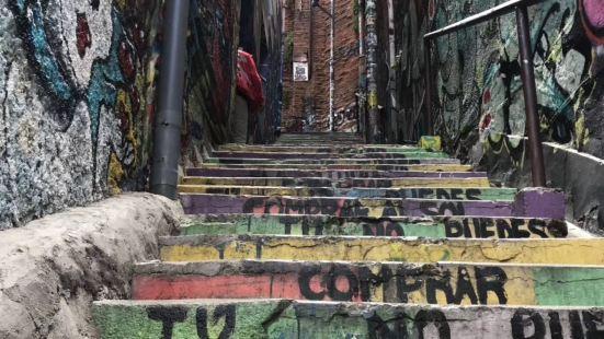 瓦尔帕莱索市的一个特点就是她的斑斓色彩 各种墙上的涂鸦 充满