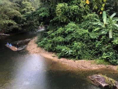 Sutin Group Bamboo Rafting