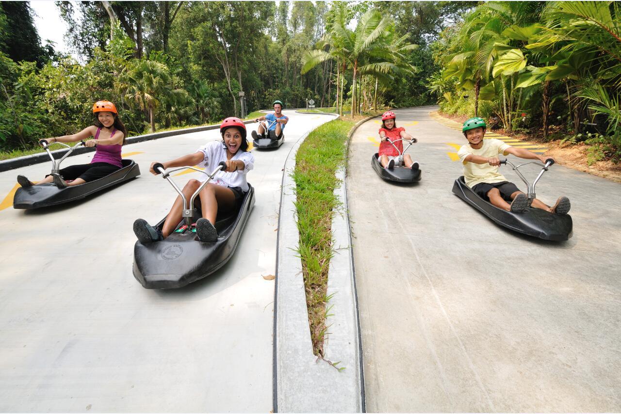 新加坡聖淘沙天際線斜坡滑車+空中吊椅組合門票