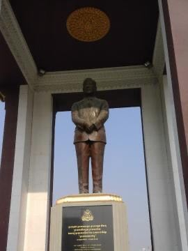 Statue of King Father Norodom Sihanouk