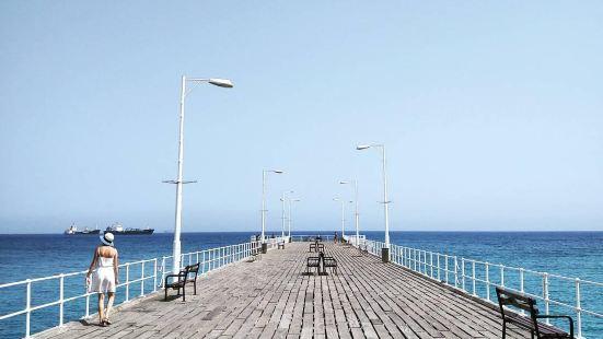 第一次在码头边游泳,第一次感受海边篝火晚会满眼的碧蓝海域,满