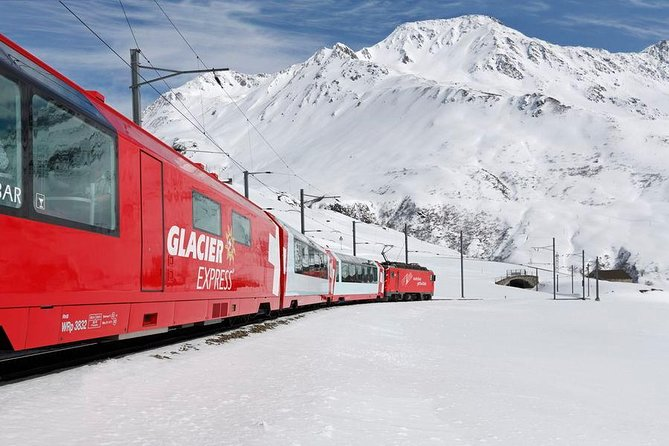 Glacier Express Panoramic Train Round Trip in one Day Private Tour from Bern