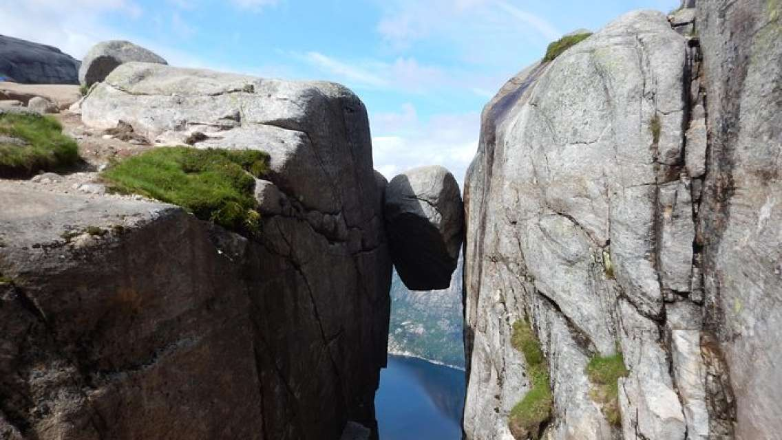 Guided hike to Kjerag Fjord cruise included