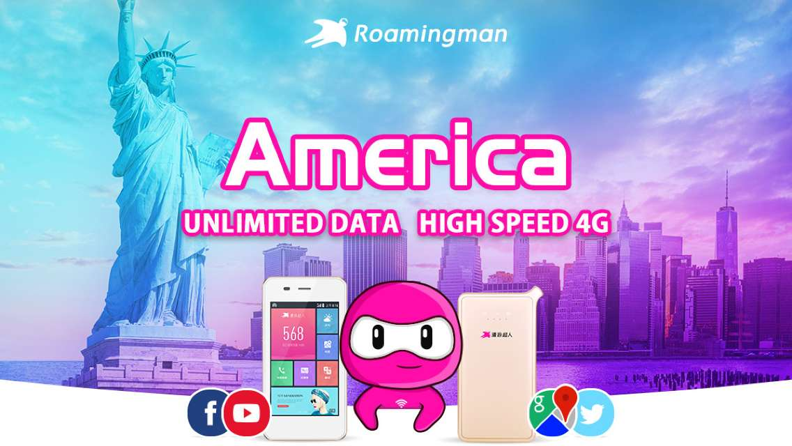 [Unlimited Data] 4G WiFi for USA (Beijing Pickup)