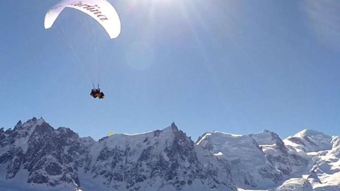 Paragliding Experience from Chamonix Mont Blanc and Aiguille du midi cable ride