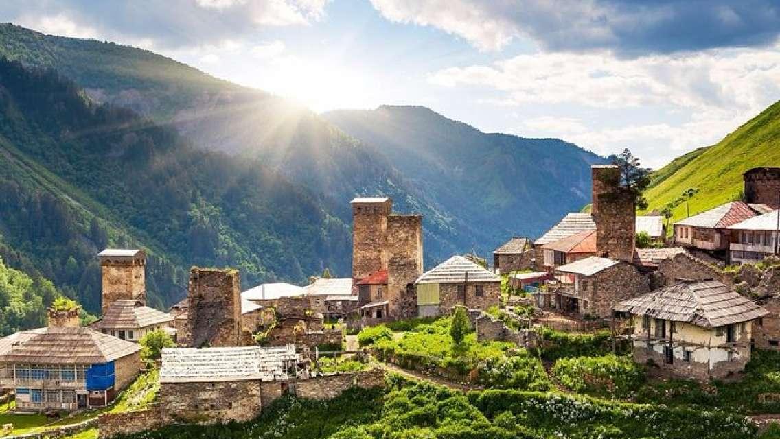 Svaneti Mestia, Ushguli Georgia from Batumi