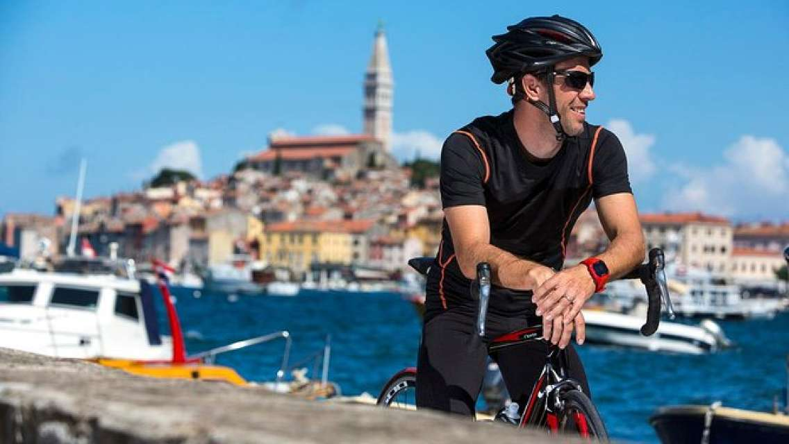 Rovinj private biking tour by electric powered bike