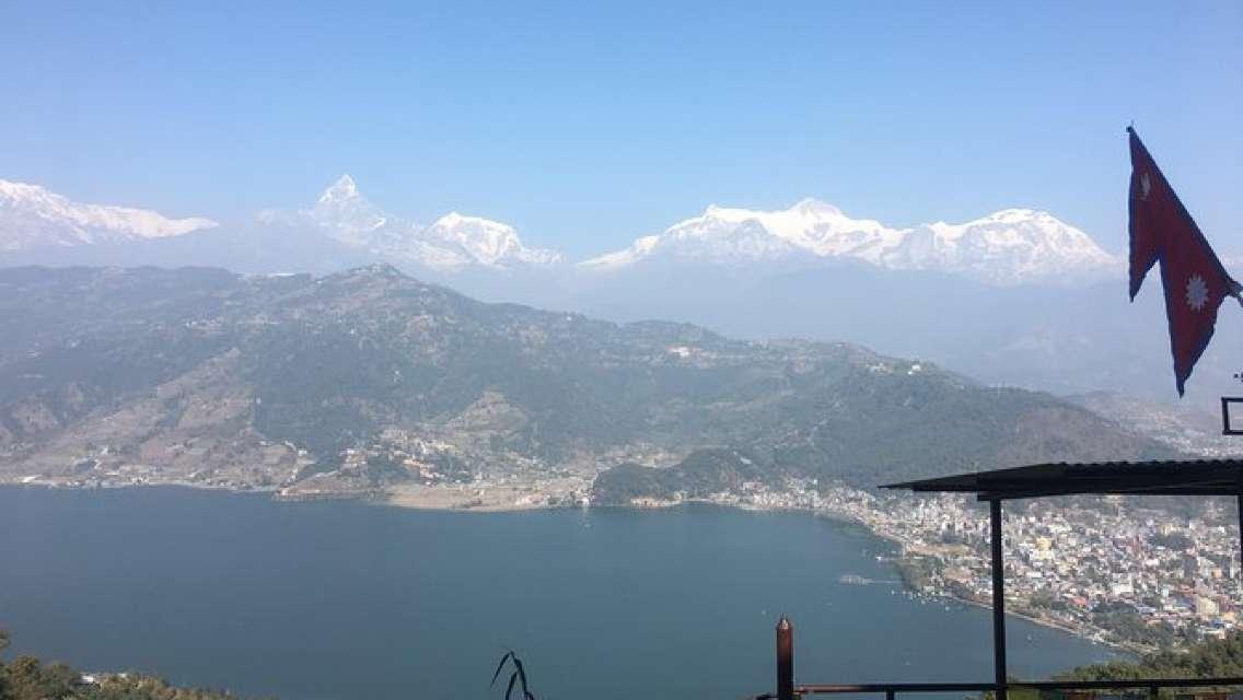 Easy Hiking to Sarangkot World Peace Stupa from Pokhara