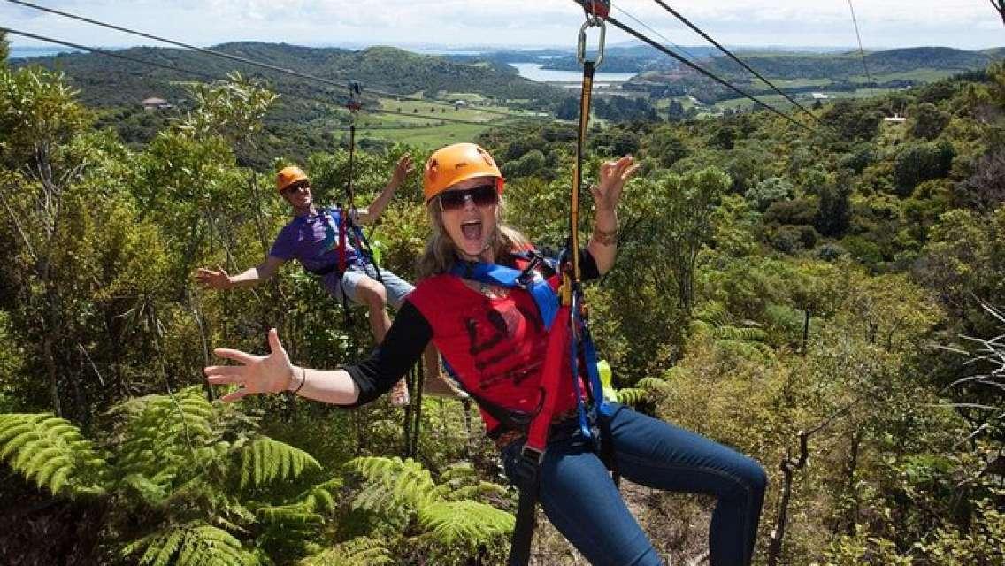 Full Day Waiheke Island Tour: Ziplining, Wine Tasting and Vineyard Lunch