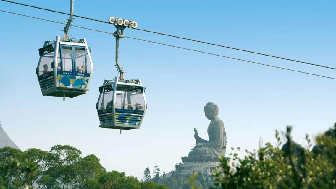 香港青馬大橋+昂坪360纜車+天壇大佛一日遊(含往返纜車,寶蓮寺貴賓素菜)