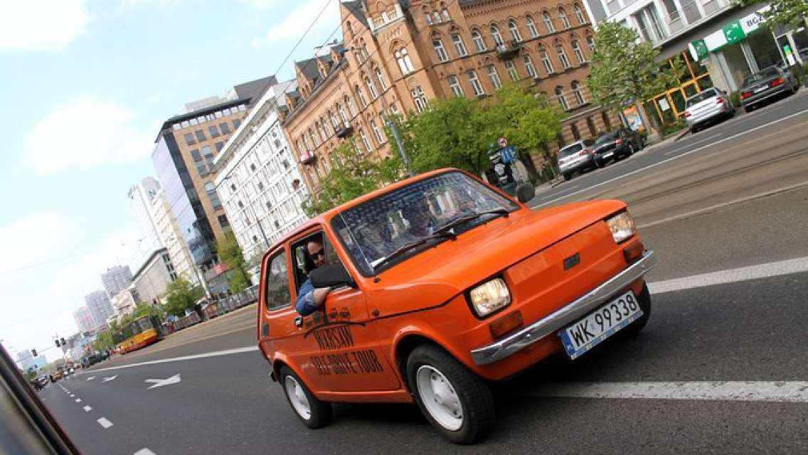 Retro Fiat Self-Drive Tour in Warsaw