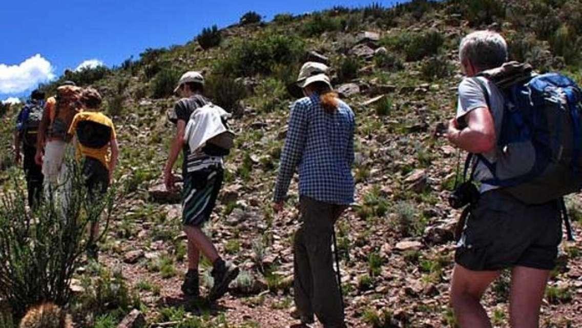 Trekking and Rappel to Quebrada del Salto Fall, from Mendoza