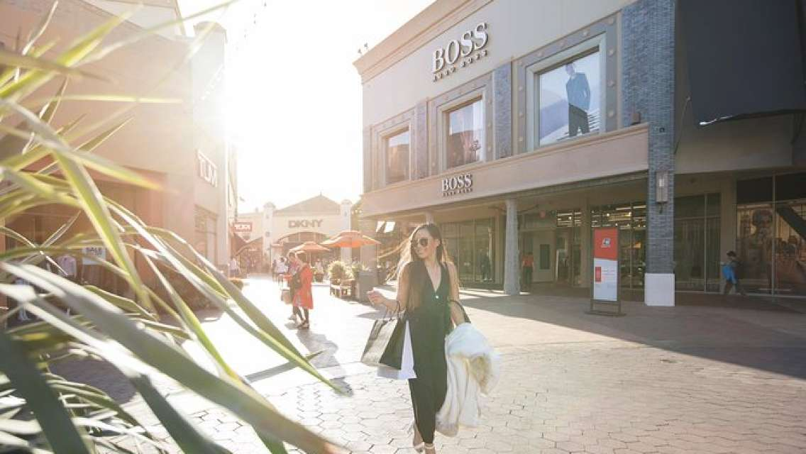 Citadel Outlets Transfer from Anaheim with VIP Lounge, storage & LAX Drop-Off