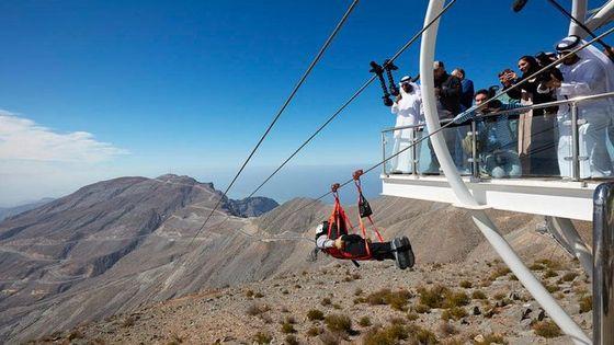 Jebel Jais Zipline- Guiness World Record Longest Zipline
