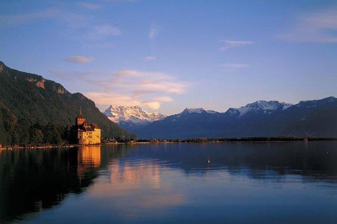 Montreux and Château de Chillon from Lausanne