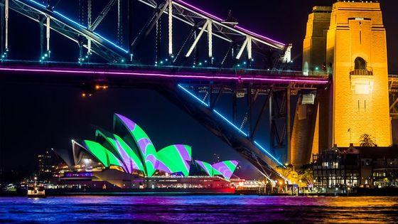 Vivid 90-Minute Sydney Harbour Catamaran Cruise with BYO Drinks