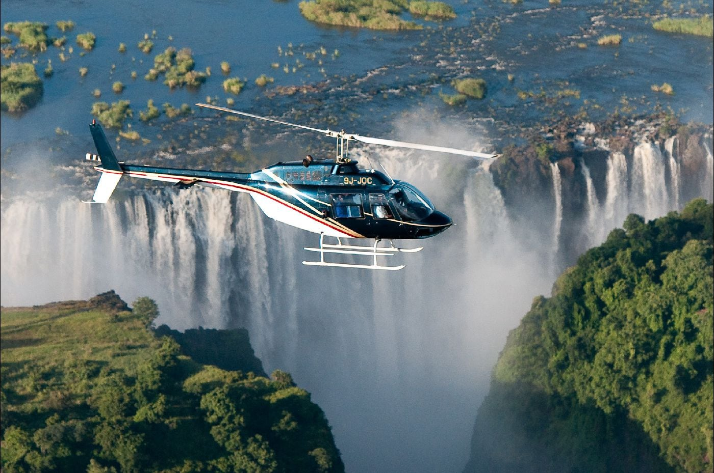 Flight of Angels - Helicopter Flight over The Victoria Falls in Zimbabwe (6-Seater)