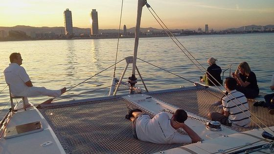 Catamaran Private Experience 2-3-4 hrs from 13 to 16 passengers Barcelona