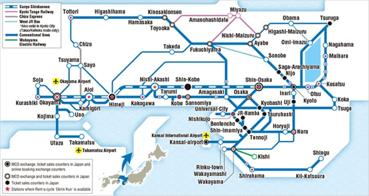 Japan's Kansai Area JR PASS 1/2/3/4/5 Day Pass/Wide Area 5 Day Pass
