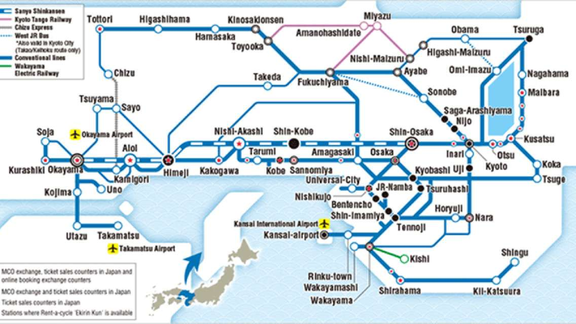 Japan's Kansai Area JR PASS 1/2/3/4/5 Day Pass/Wide Area 5 Day Pass