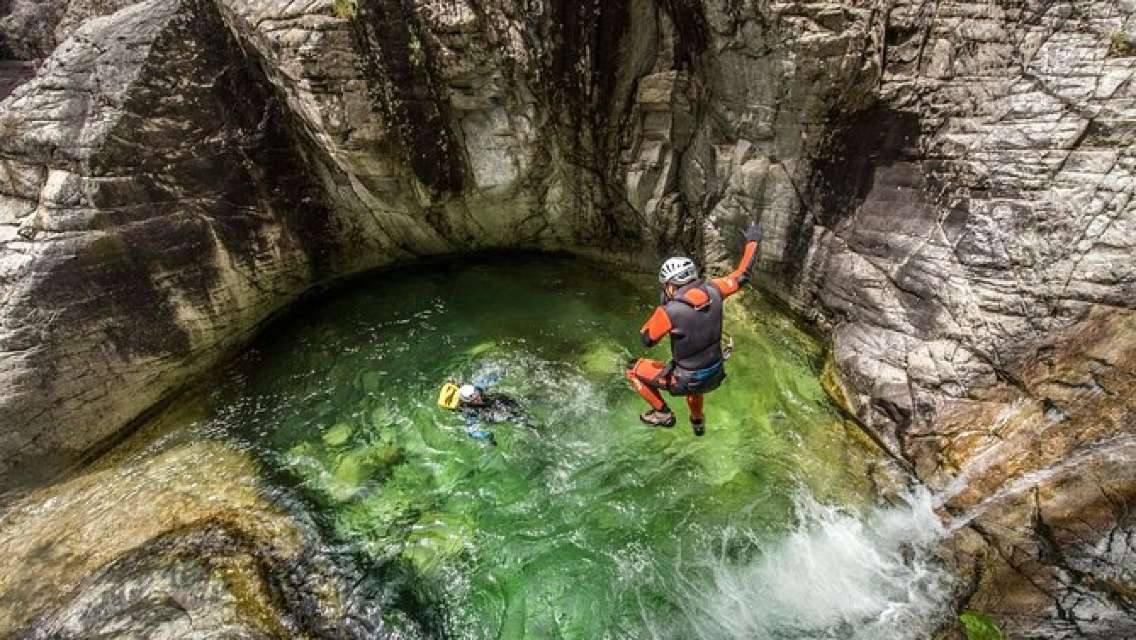Corsica The Richiusa Canyon Canyoning Experience