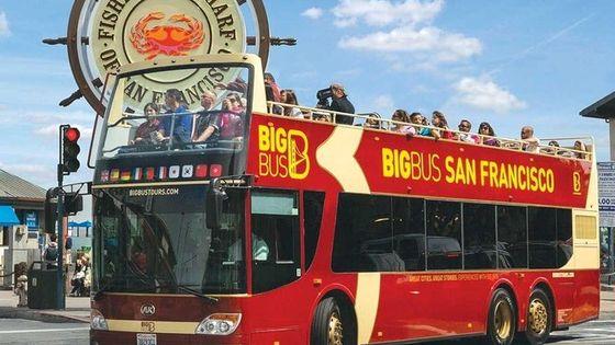 San Francisco Hop on Hop off Open Top Bus Tour + City Night Tour (Premium)