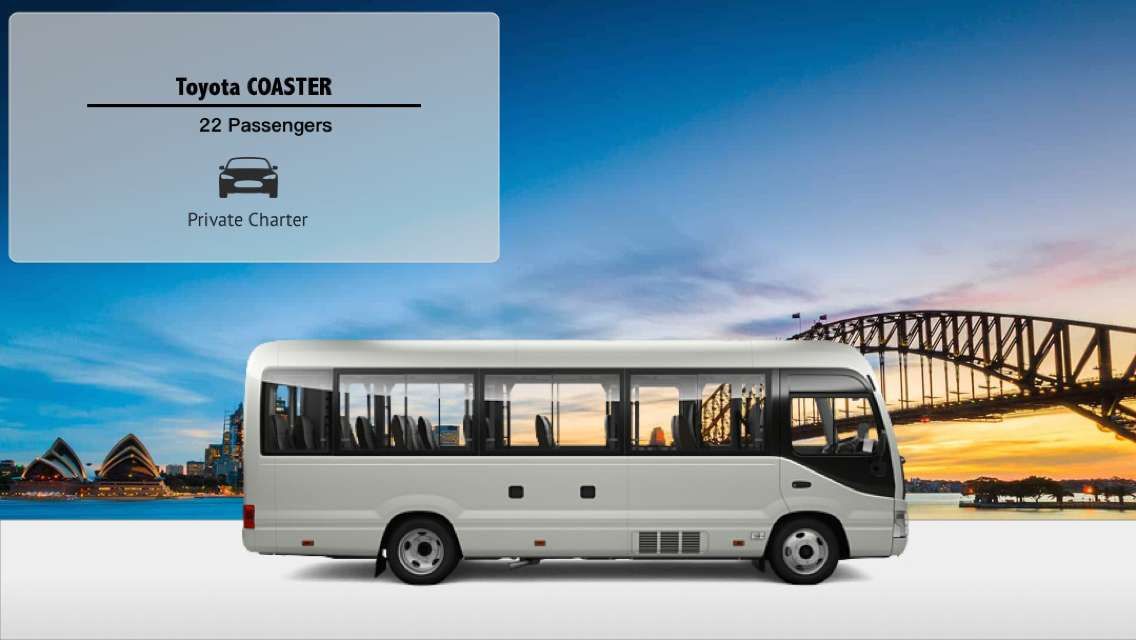 Private Toyota Minibus Hire with Driver (From Sydney to Blue Mountains/Wollogong/Hunter Valley/Canberra)