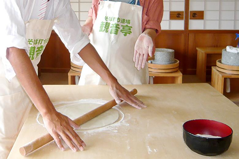 【静岡・伊豆高原・そば打ち体験】90分・天ぷら付き