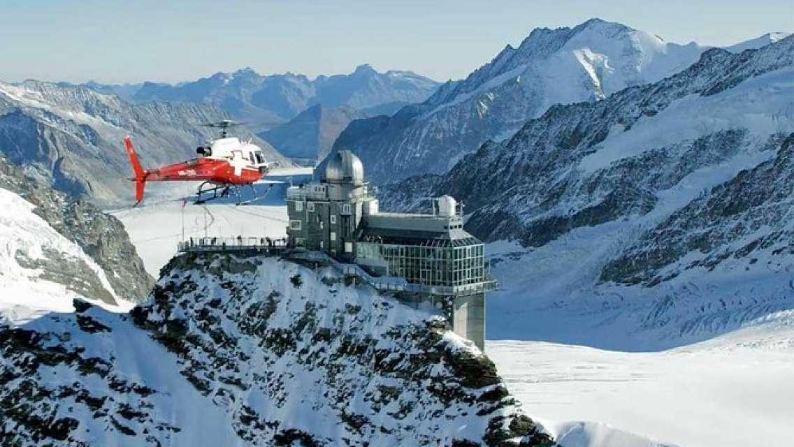 Jungfraujoch helicopter flight one way