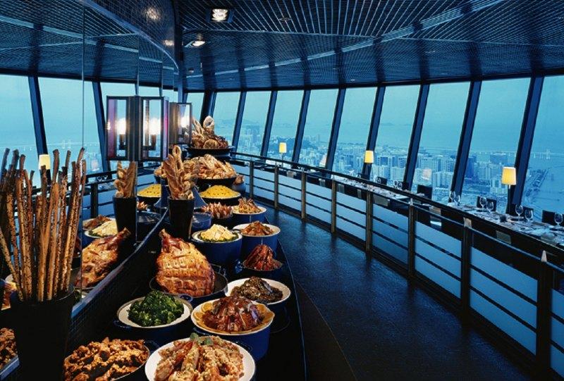 마카오타워 360 레스토랑 런치 뷔페/디너 뷔페/애프터눈티 이용권