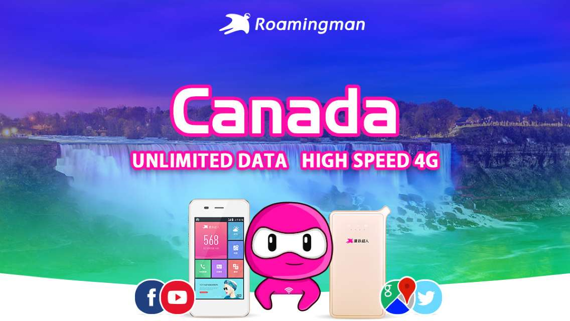 [Unlimited Data] 4G WiFi for Canada (Guangzhou Pickup)