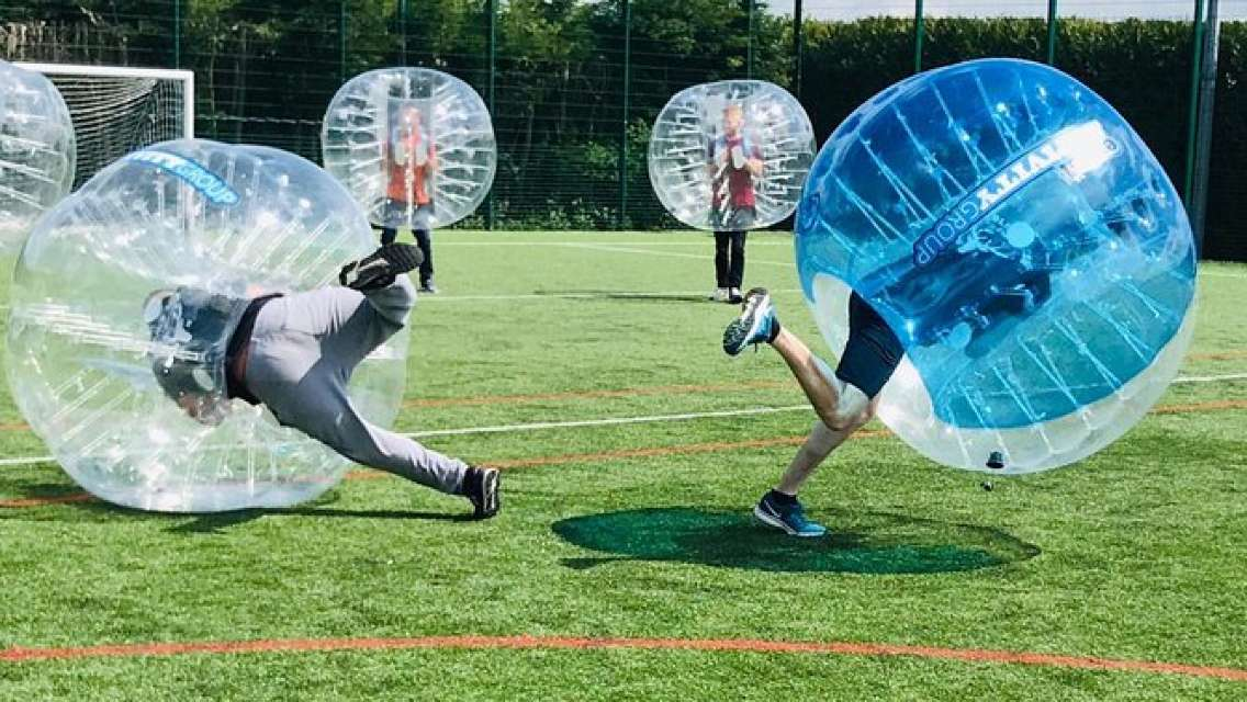 1-Hour Zorb Football Game in Cardiff