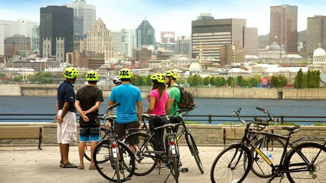 4 Hour Montreal Architecture & City Bike Tour with Wine or Beer