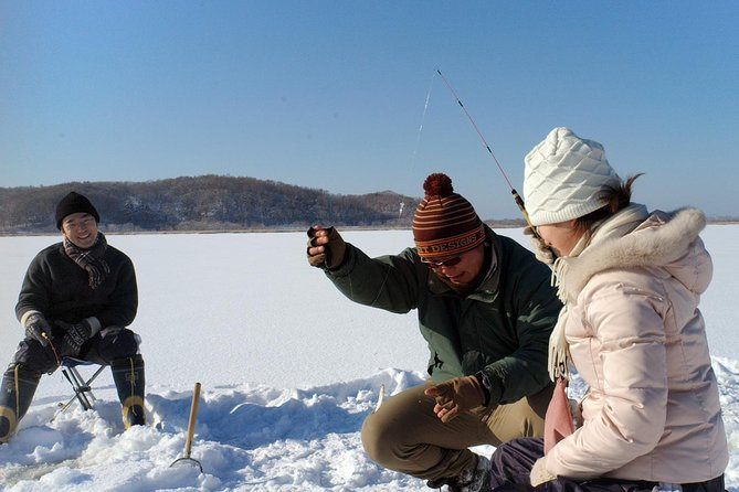 Smelt Ice Fishing Experience in Kushiro