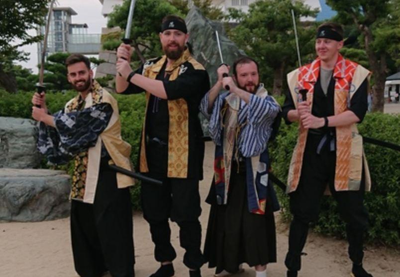 在日本大阪城武士・忍者體驗+武士道文化+武術技巧(大阪忍者體驗)