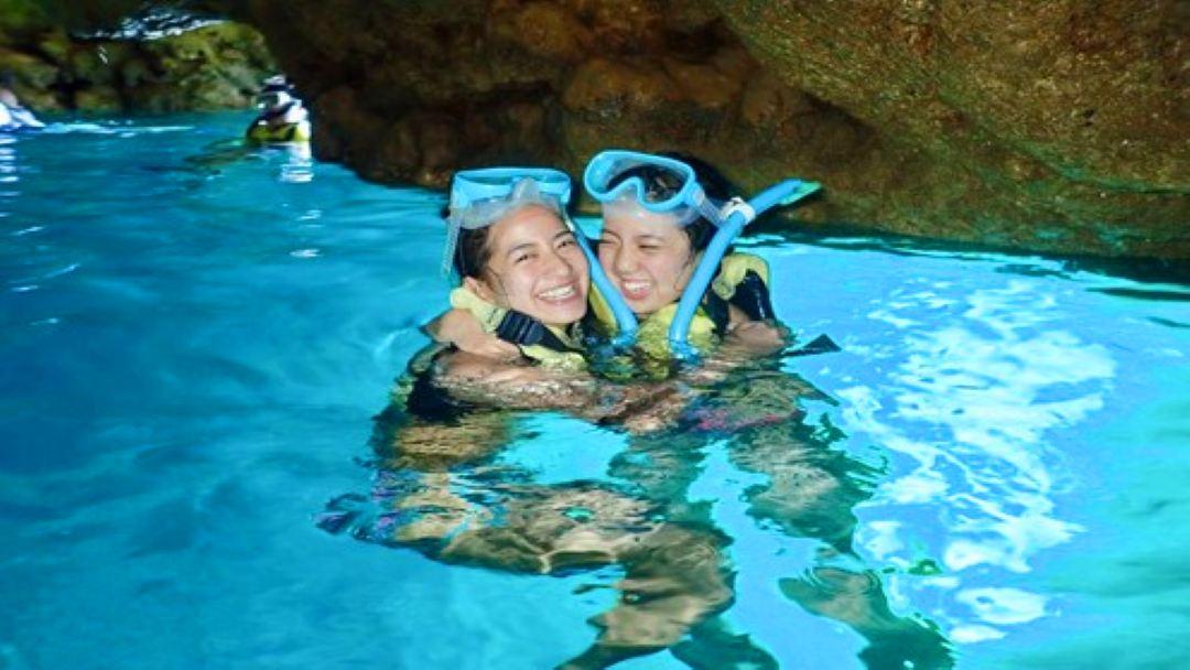 OKINAWA Blue Cave Snorkeling & Parasailing Daytour