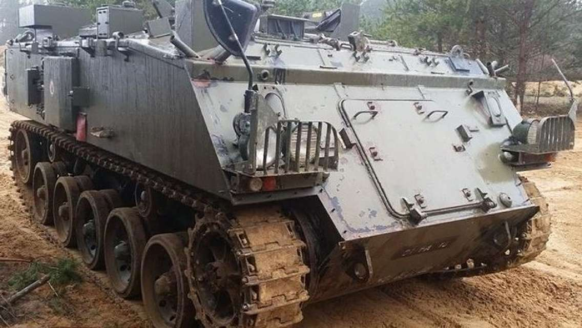 You in armored war vehicle