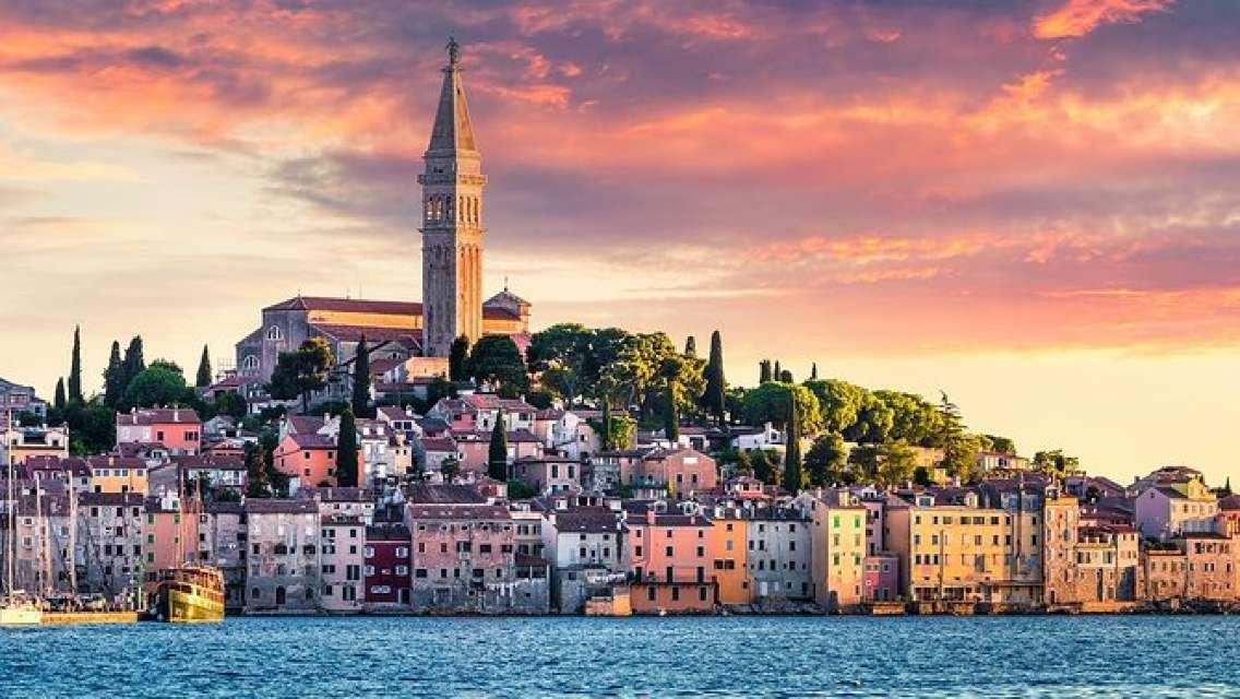 Pula, Rovinj & Panoramic Istrian Coast from Rijeka