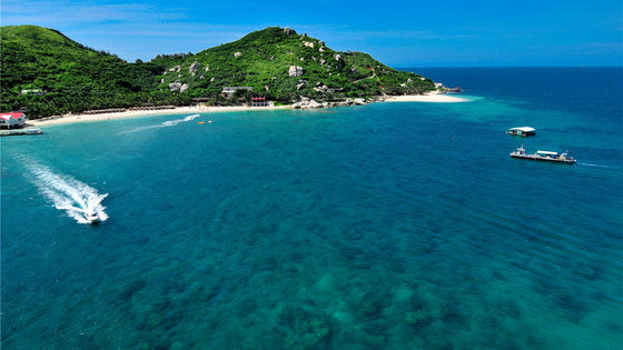 三亞分界洲島+遠海深潛+浮潛+動感飛艇+網紅玻璃船+天使之翼+無人機航拍一日遊