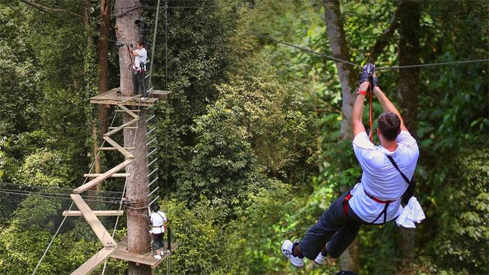 蘭卡威鋼索探險 叢林飛躍 Skytrex adventure Langkawi