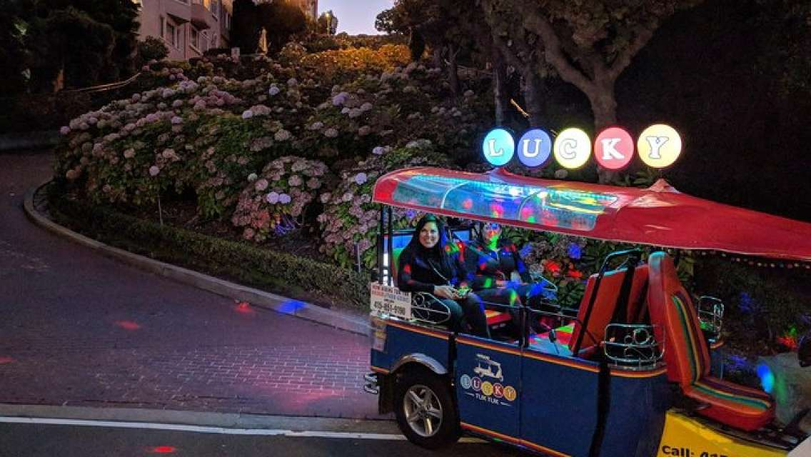 Lucky Tuk Tuk at Night - Private Group San Francisco Sunset or Lights Tour