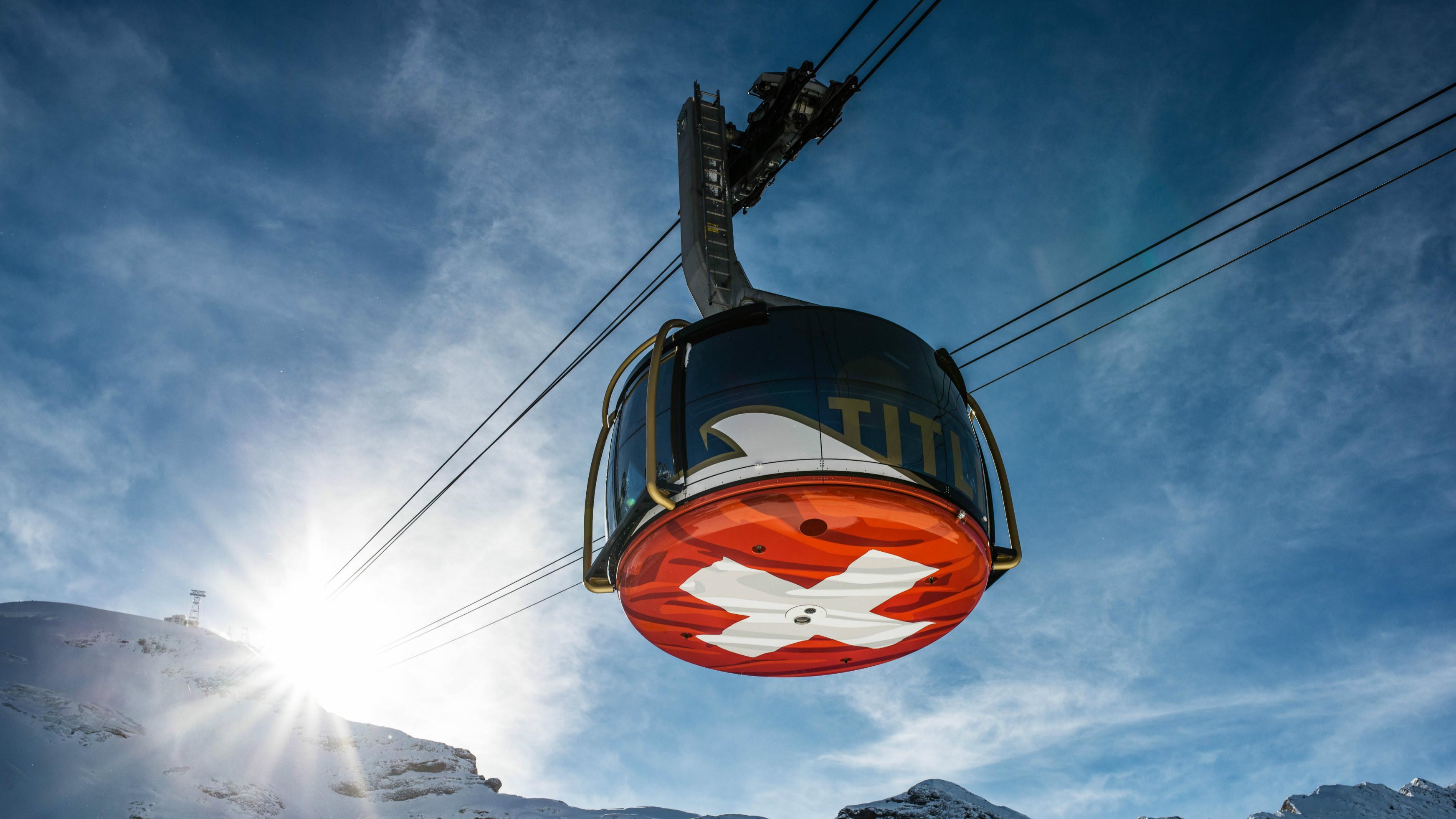 瑞士琉森鐵力士雪山 TITLIS 往返纜車含冰川飛渡吊椅吊橋电子票