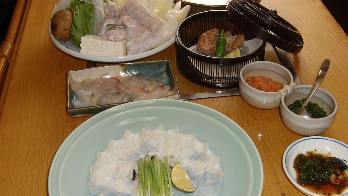 """東京新宿河豚料理""""明石""""美食套餐"""