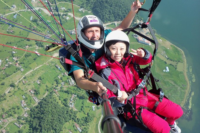 Paragliding in Pokhara Nepal with Photo and Video