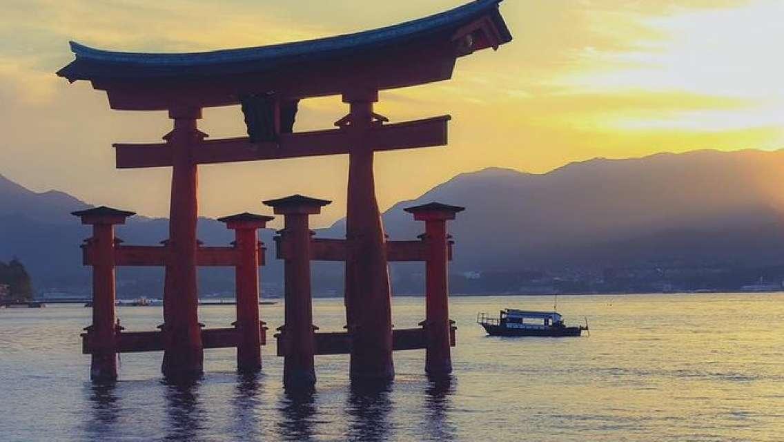 Take a spectacular cruise to the World Heritage site Itsukushima Shrine