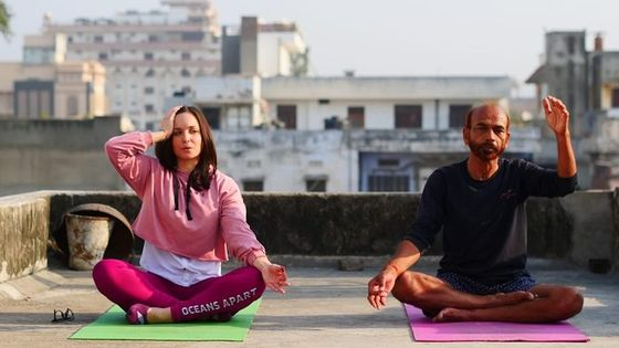 Roof Top Yoga Class in Jaipur with Transportation facility