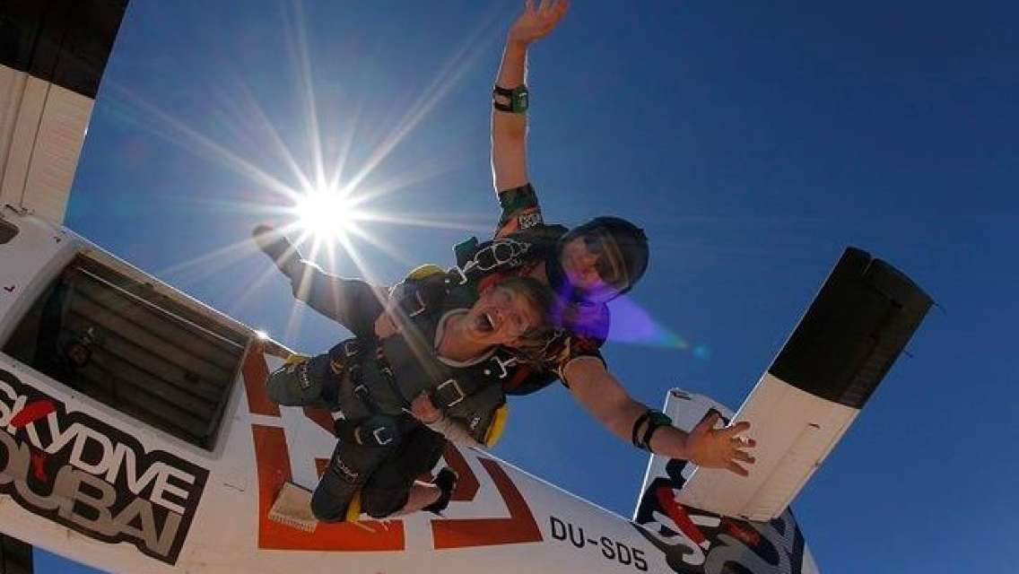 Tandem Skydive Desert- Must do in Dubai with pick up